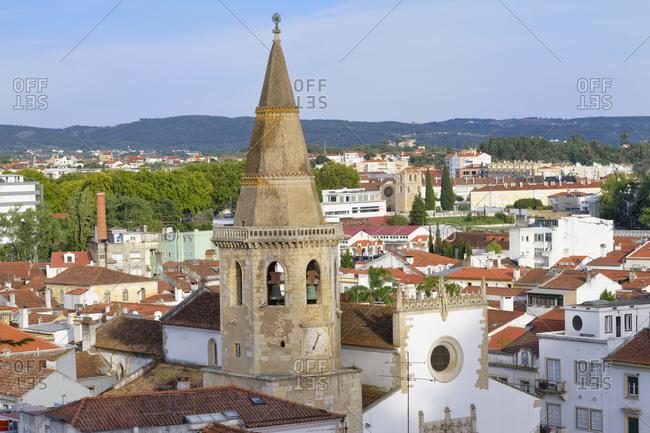 Saint John the Baptist Church, Manueline clock tower, Tomar, Santarem district, Portugal, Europe
