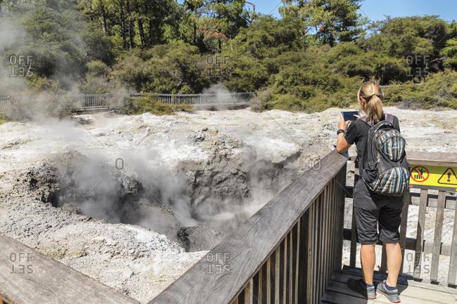 March 8, 2020: Wai-O-Tapu Thermal Wonderland, Rotorua, Bay of Plenty, North Island, New Zealand, Pacific