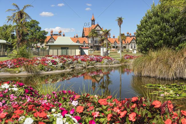 March 8, 2020: Government Garden, Rotorua, Bay of Plenty, North Island, New Zealand, Pacific
