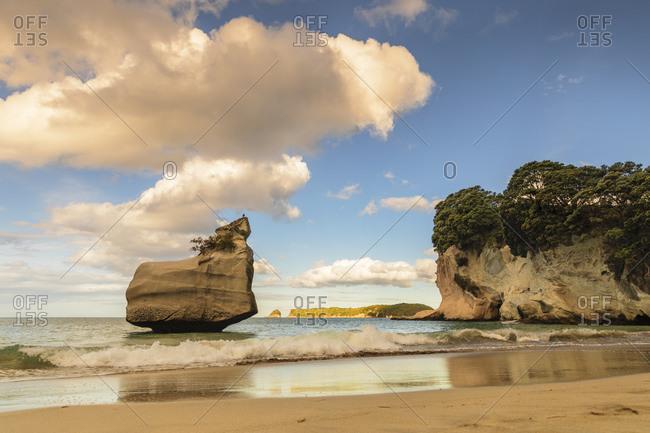 Beach of Mare's Leg Cove, Cathedral Cove Marine Reserve, Coromandel Peninsula, Waikato, North Island, New Zealand, Pacific