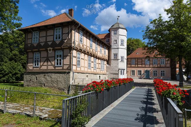 July 17, 2020: Castle Fallersleben, Wolfsburg, Lower Saxony, Germany, Europe