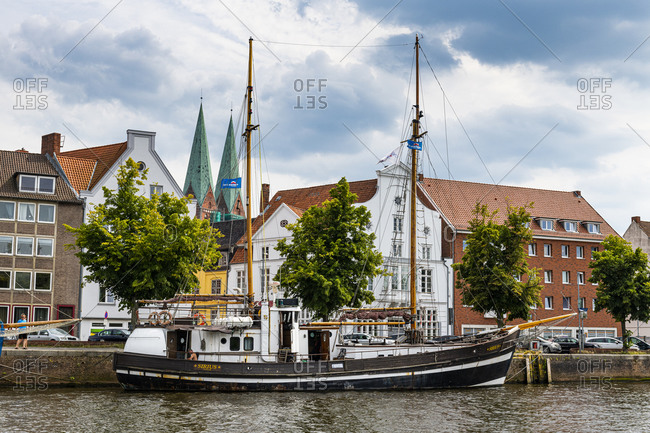 July 19, 2020: Old Hanse houses in Lubeck, UNESCO World Heritage Site, Schleswig-Holstein, Germany, Europe
