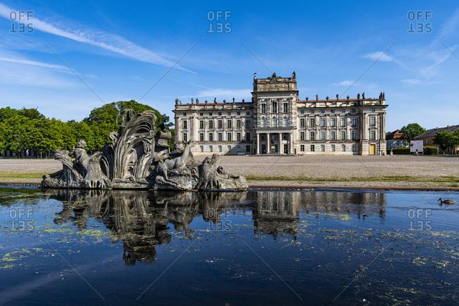 July 18, 2020: Ludwigslust Palace, Ludwigslust, Mecklenburg-Vorpommern, Germany, Europe