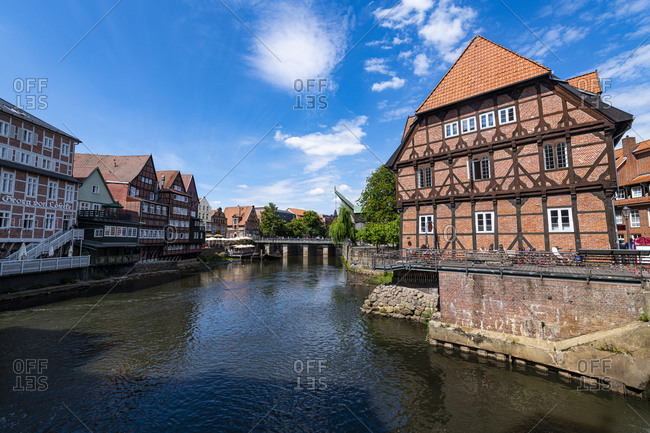 July 17, 2020: Old Hanseatic city of Luneburg, Lower Saxony, Germany, Europe