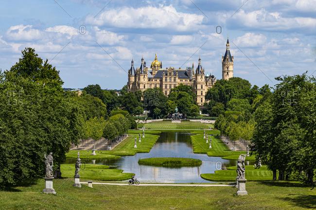 July 18, 2020: Schwerin Castle, Schwerin, Mecklenburg-Vorpommern, Germany, Europe