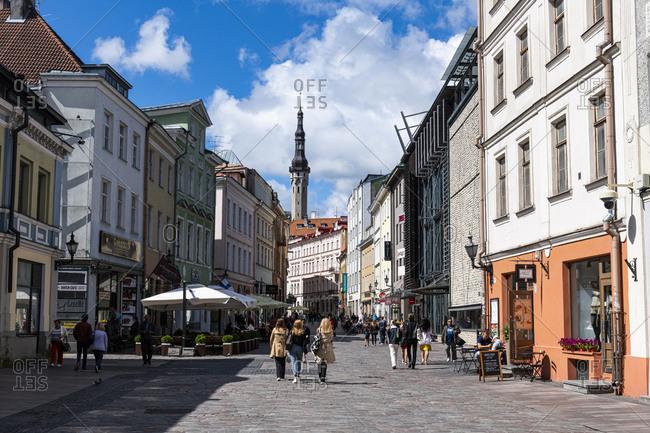 July 23, 2020: Old Hanseatic town of Tallinn, UNESCO World Heritage Site, Estonia, Europe