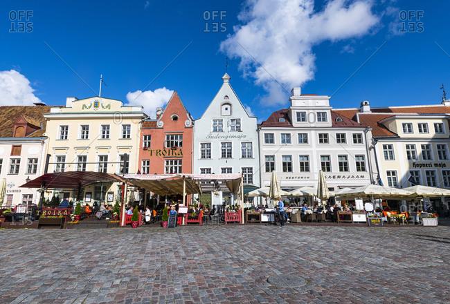 July 23, 2020: Town Hall Square, Tallinn, Estonia, Europe