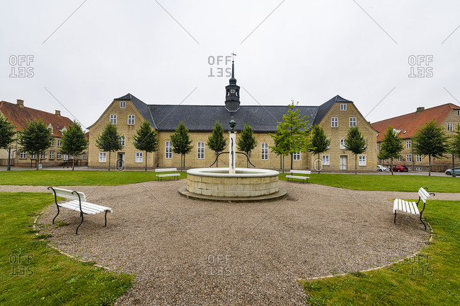 The Moravian Church, UNESCO World Heritage Site, Christiansfeld, Southern Jutland, Denmark, Scandinavia, Europe