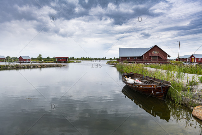 Boathouse in the Kvarken Archipelago, UNESCO World Heritage Site, Finland, Europe