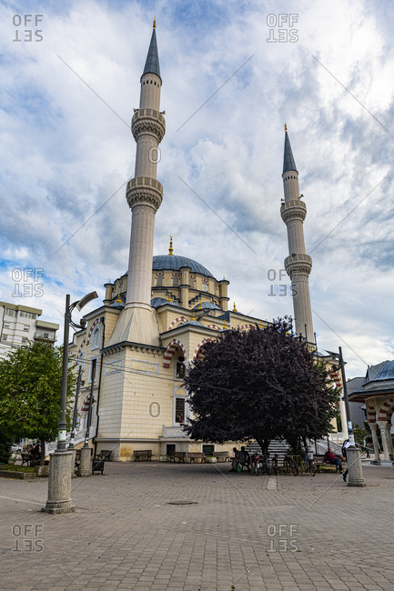 September 1, 2020: Central Mosque in the Albanian side of the separated town of Mitrovica, Kosovo, Europe