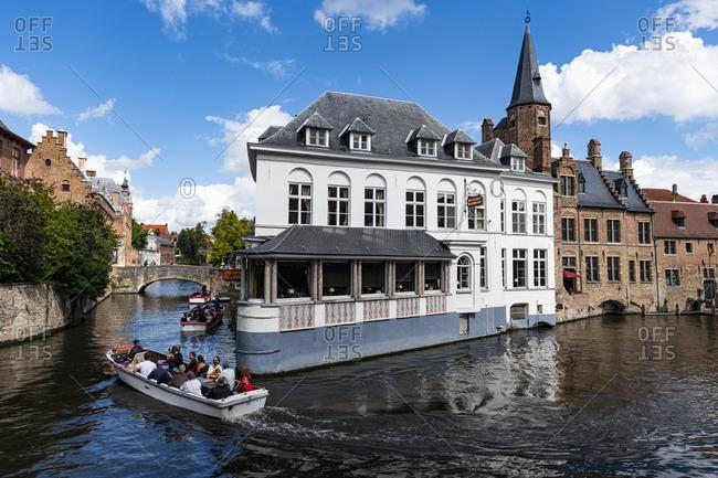 August 23, 2020: Bruges, UNESCO World Heritage Site, Belgium, Europe