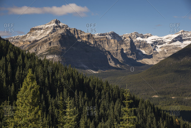 Looking toward Mount Bell from the Arnica Lake Trail, Banff National Park, UNESCO World Heritage Site, Alberta, Canadian Rockies, Canada, North America