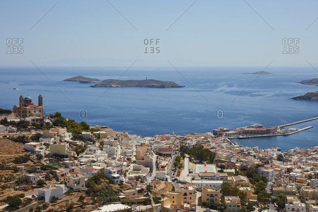 September 1, 2020: City of Ermoupoli on Syros island, Cyclades, Greek Islands, Greece, Europe