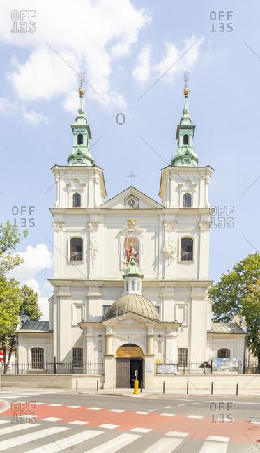 August 11, 2020: The Collegiate Church of St. Florian, UNESCO World Heritage Site, Krakow, Poland, Europe