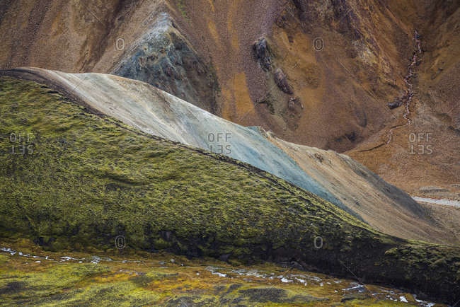 Colorful hills, Fjallabak Nature Reserve, Interior of Iceland