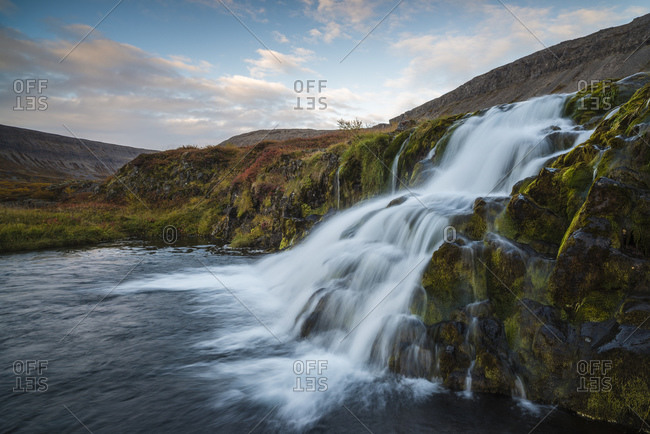 Dynjandi waterfall, Westfjords of Iceland