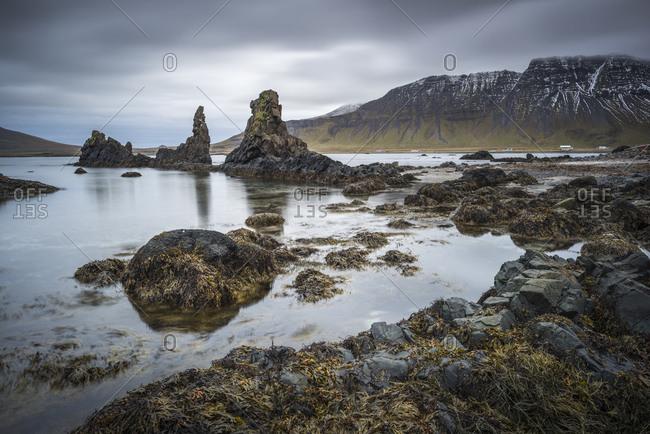 Sea stacks by Trekyllisvik, Strandir, Iceland
