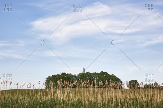 Germany, mecklenburg-west pomerania, north western pomerania, recknitz, pantlitz, church tower