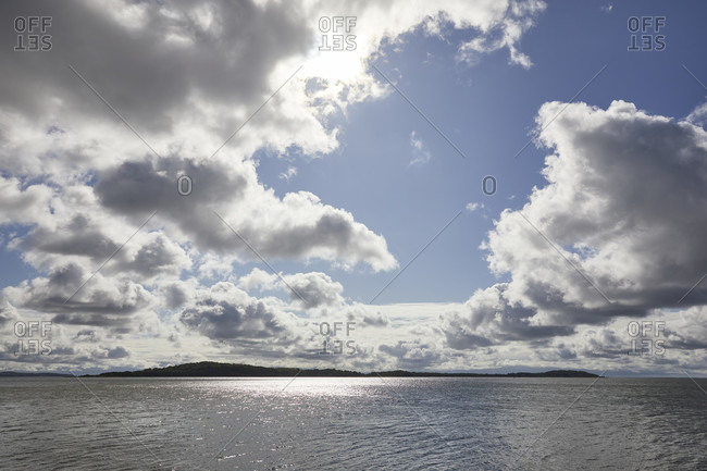 Germany, mecklenburg-west pomerania, baltic sea, vilm, clouds, island