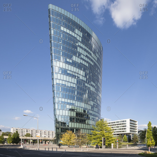 "May 27, 2020: The omv headquarters in quarter two, in the ""hoch zwei"" office building, trabrennstrasse 6-8, 2nd district, leopoldstadt, vienna, austria"