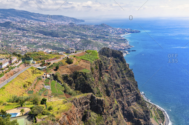 Cabo gyro, the second highest cliff in the world (580 meters) .madeira, portugal
