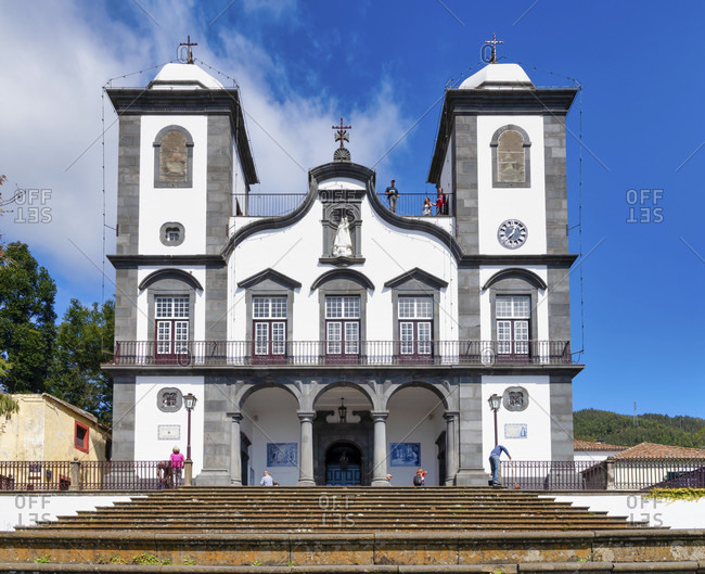 March 7, 2020: To see the pilgrimage church nossa senhora do monte in funchal, madeira, portugal