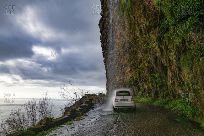March 11, 2020: Natural waterfall, anjos, ponta do sol, madeira, portugal