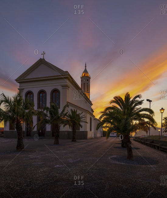 The neoclassical church 'igreja de sao martinho' is located on the highest point of the sao martinho district in the west of funchal, madeira, portugal