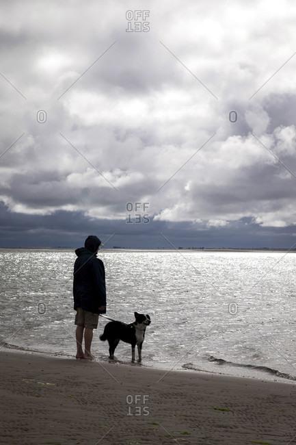 Deceleration, walk along the north sea, watt, denmark