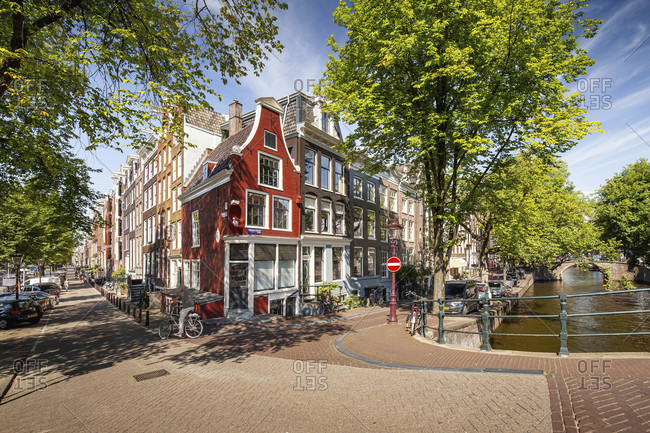 August 25, 2016: Amsterdam canals in summer