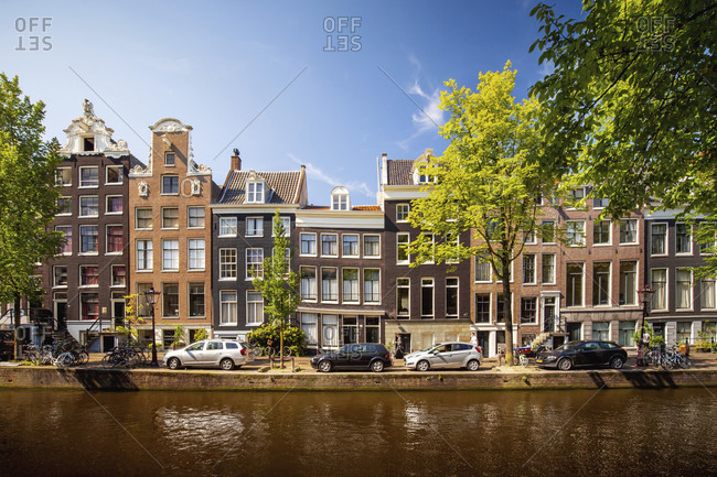 Canals of amsterdam, the netherlands in summer