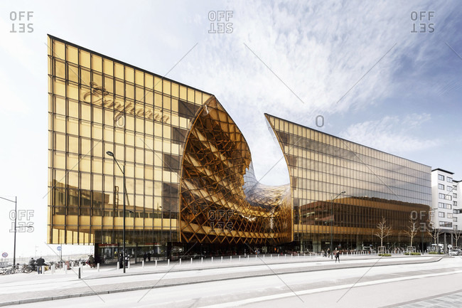 June 5, 2015: Emporia shopping mall with modern architecture in malmo, sweden