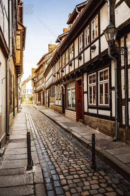 Quedlinburg in the harz mountains, saxony-anhalt, germany