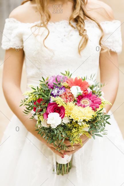 Wedding, bridal bouquet, flowers, decoration, portrait format