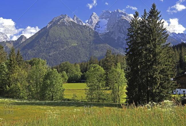 Hochkalter (2607m), ramsau bei berchtesgaden, berchtesgadener land, upper bavaria, bavaria, germany