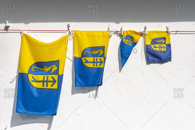 Flags of the island of hiddensee