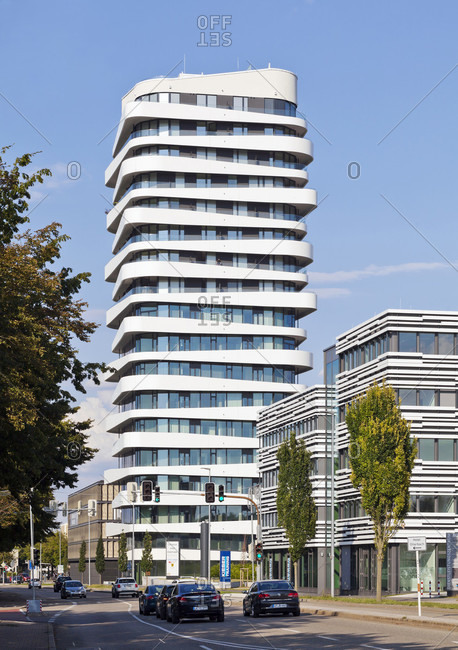 July 16, 2018: Germany, baden-wurttemberg, bietigheim-bissingen, sky, high-rise