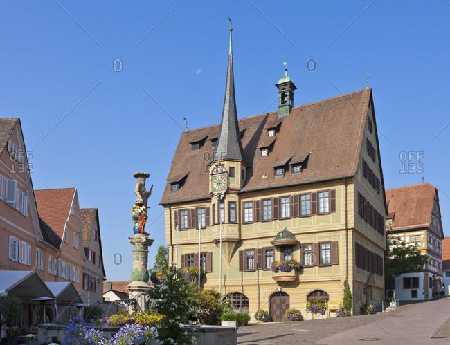 August 3, 2018: Germany, baden-wuerttemberg, bietigheim-bissingen, town hall