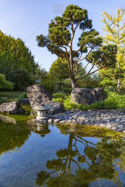 Germany, baden-wuerttemberg, bietigheim-bissingen, japan garden
