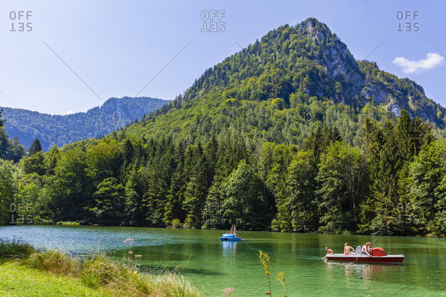 Germany, bavaria, upper bavaria, inzell, zwingsee