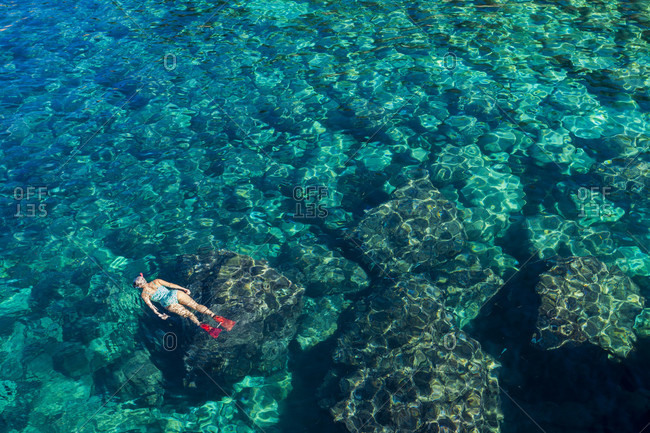 Sea, water, snorkeling, person, crystal clear, clear