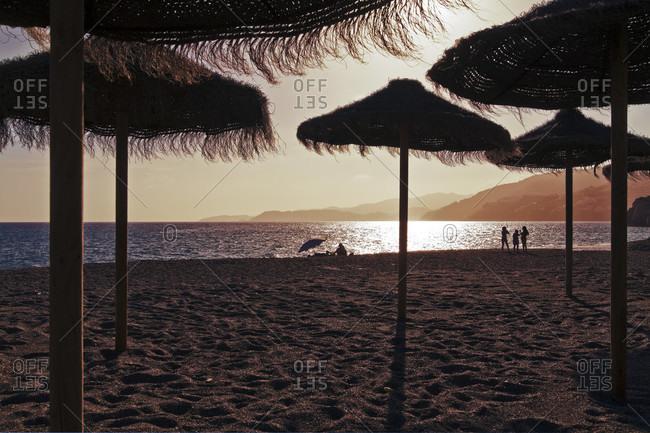 Beach, mood, back light, reflection, sun, light, sea