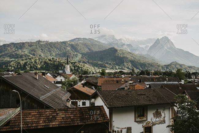 View over partenkirchen, walk through partenkirchen