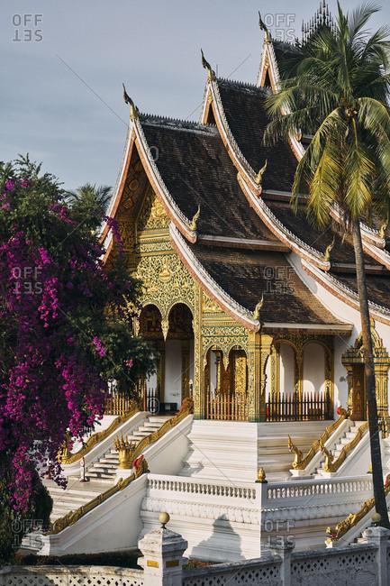 Luang Prabang, Laos - December 19, 2020: The Royal Palace and National Museum exterior