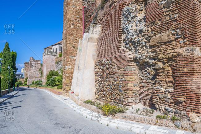 May 30, 2019: Wall of Castillo Gibralfaro