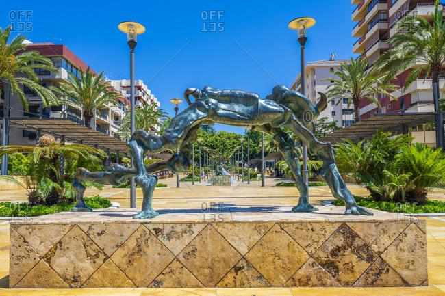 May 27, 2019: Dali sculpture in the Avenida del Mar