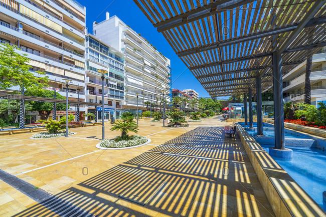 May 27, 2019: Avenida del Mar promenade in Spain, Andalusia, Marbella