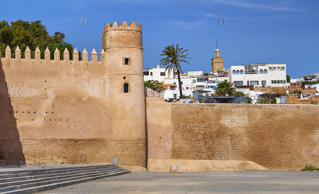 Walls of Kasbah of the Udayas, Rabat, Morocco
