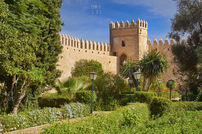 Garden inside of the Udayas Kasbah, Rabat, Morocco