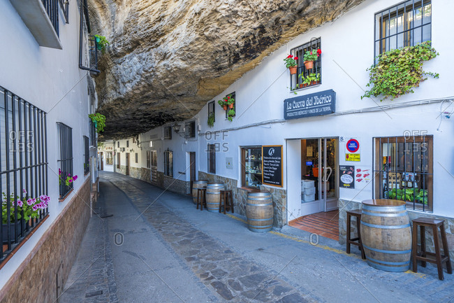 May 28, 2019: Spain, Andalusia, Setenil's Overstreet Rock